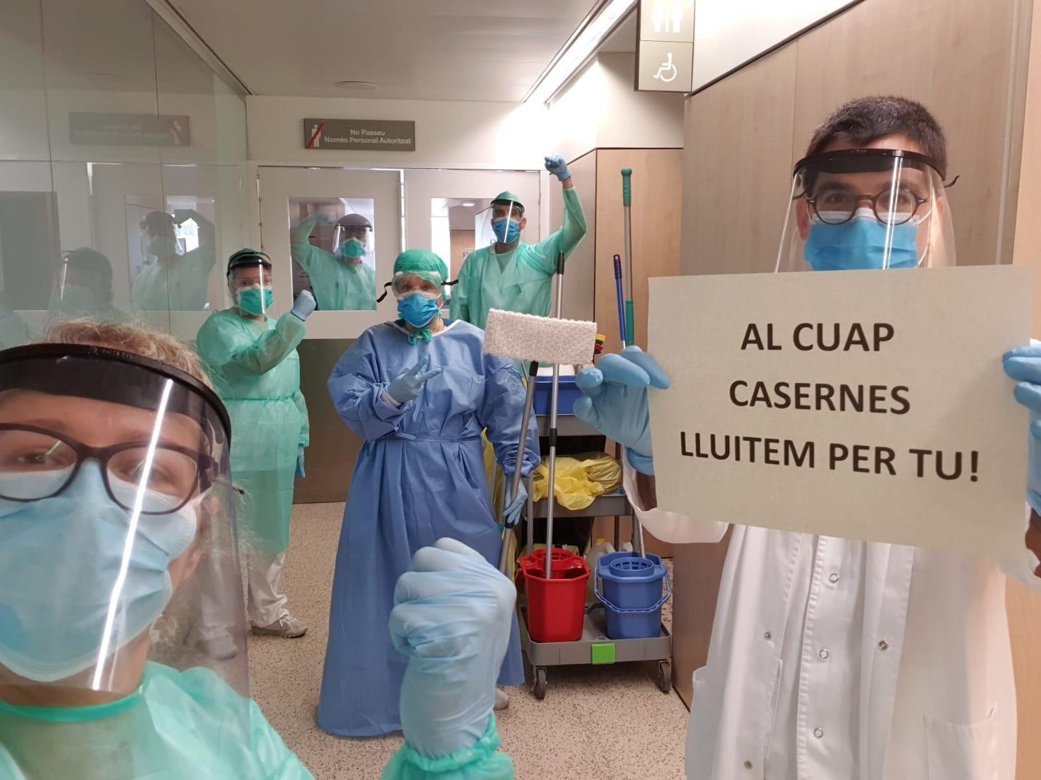 Personal del CUAP Casernes durant l'epidèmia de coronavirus / ICS Barcelona