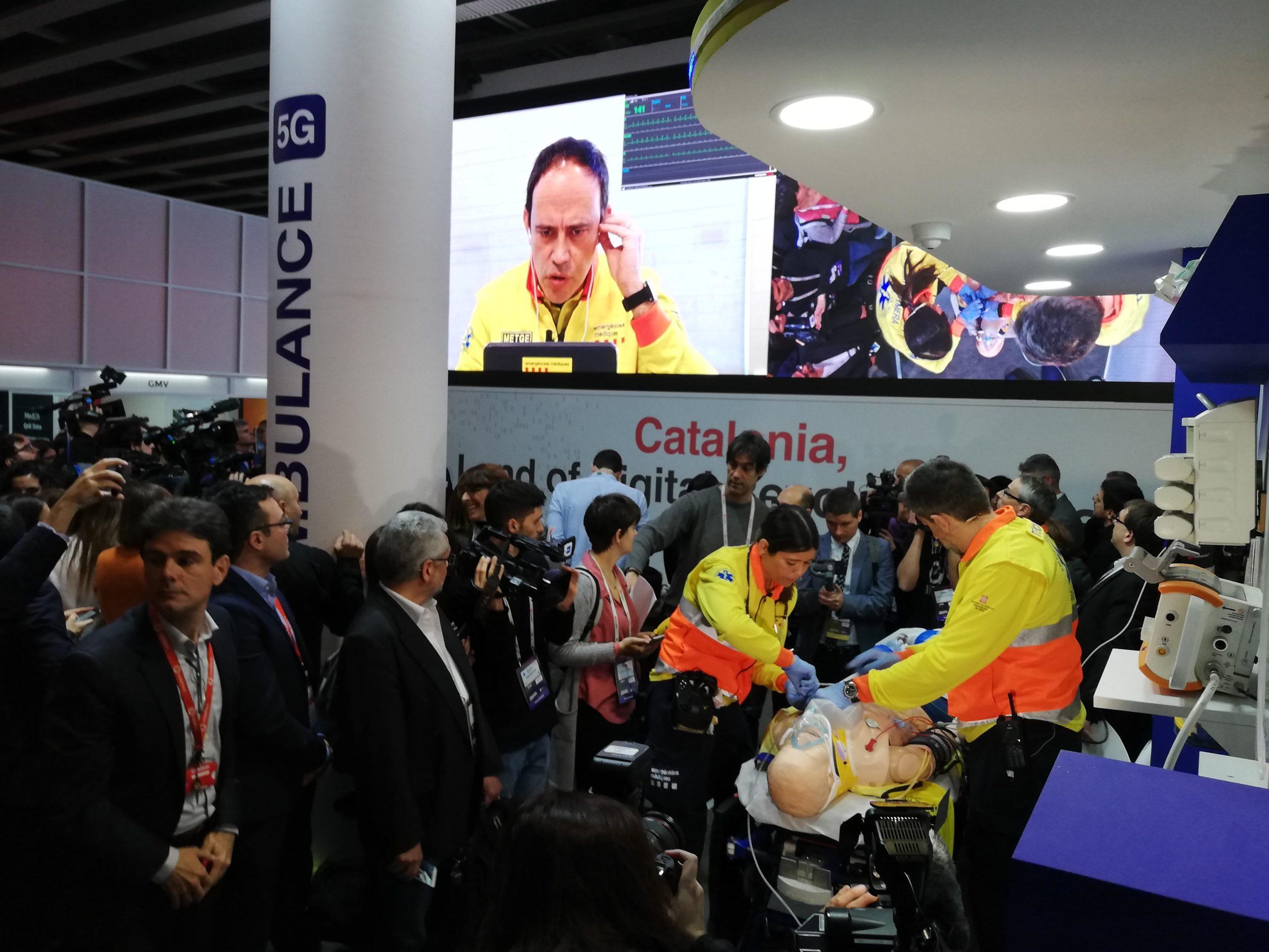 Demostració d'una ambulància amb 5G al MWC del 2019 / XFDC