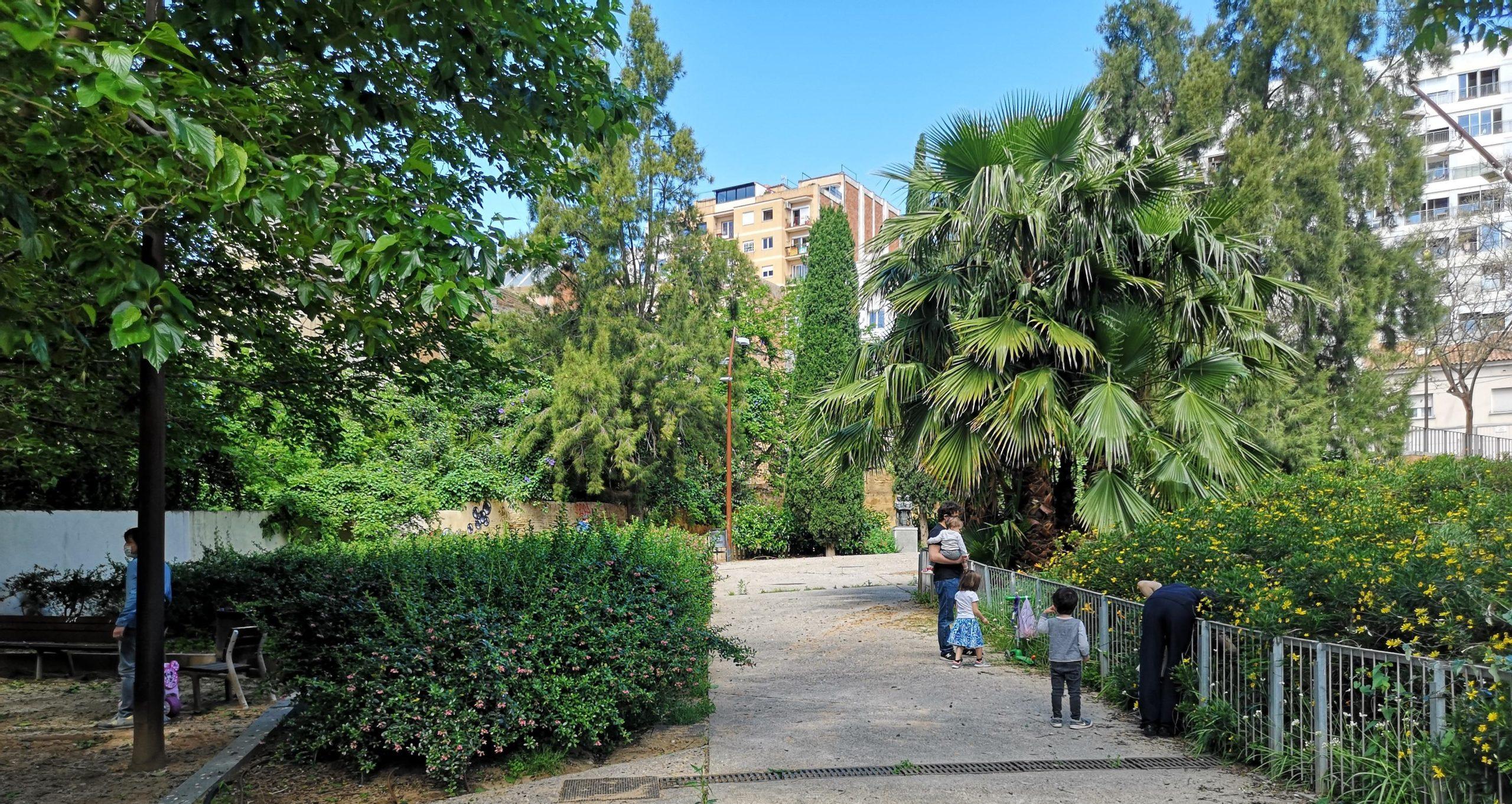 Els jardins Mestre Balcells, aquest migdia / D.C.