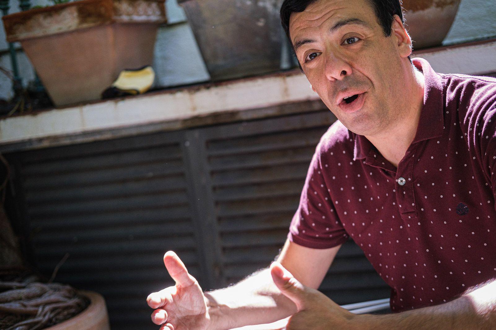 Eric Herrera durant l'entrevista (JORDI BORRÀS)