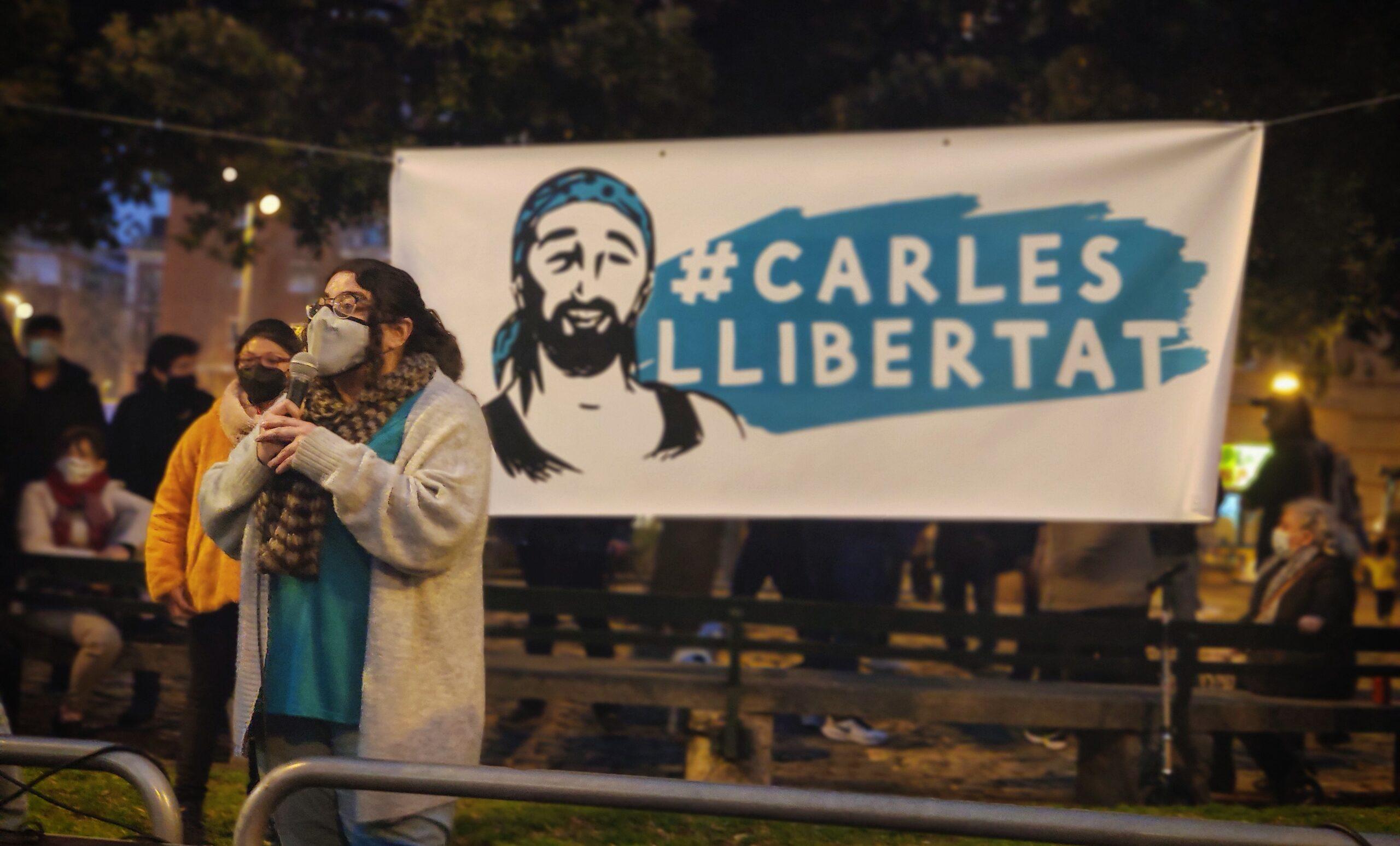 Concentració a Sants en solidaritat amb el restaurador empresonat als aldarulls / David Cobo