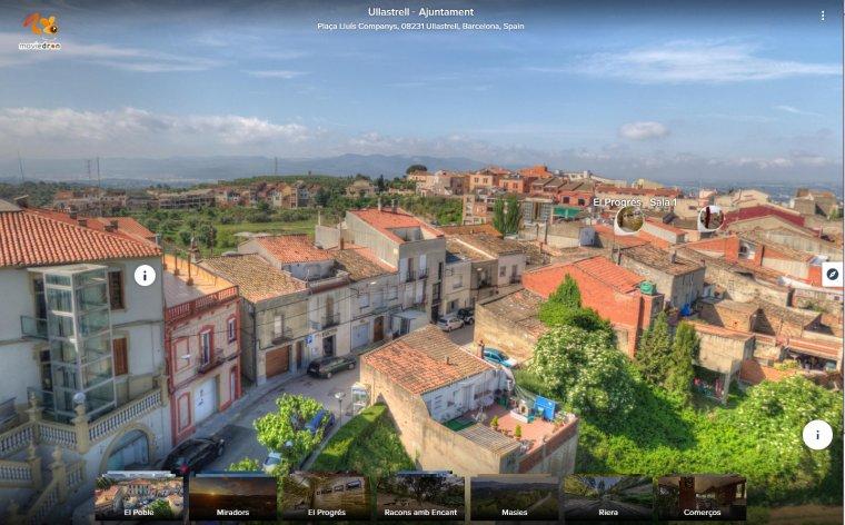 Captura de la vista del poble a través de l'aplicació  | Aj. Ullastrell