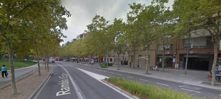 La Rambla de Terrassa, en el tram sud  | Google Maps